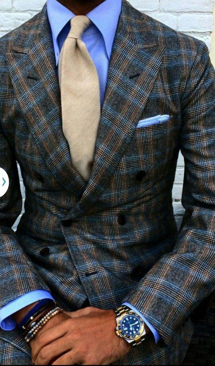 Modern plaid suit
