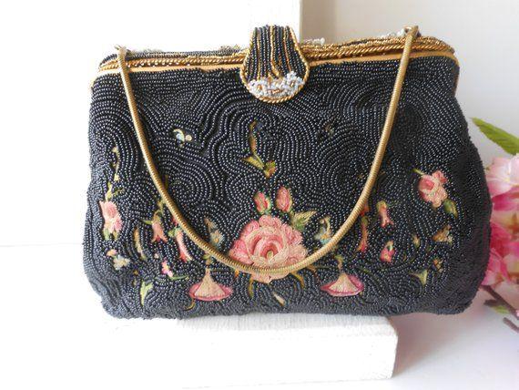 Vintage 1940 S Beaded Evening Bag