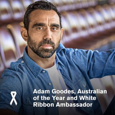 Sydney Swans player and Australian of the Year 2014, Adam Goodes has spoken out against men's violence against women, in support of White Ribbon Australia's Uncover Secrets campaign. A White Ribbon Ambassador since 2009, Goodes has discussed his childhood experience of domestic and family violence with the Australian Women's Weekly, on sale today. For more on the Uncover Secrets campaign, see www.uncoversecrets.com.au.
