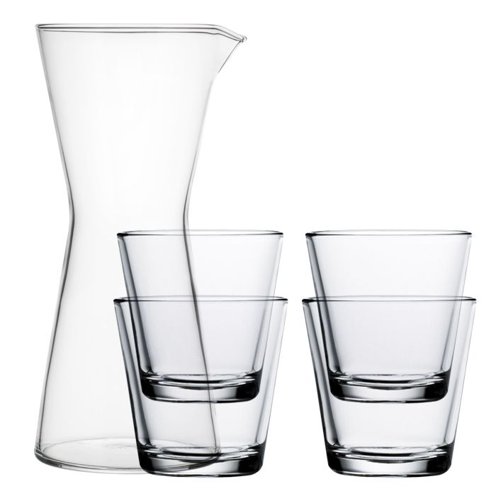 Iittala Kartio Karaffe mit 4 Gläsern
