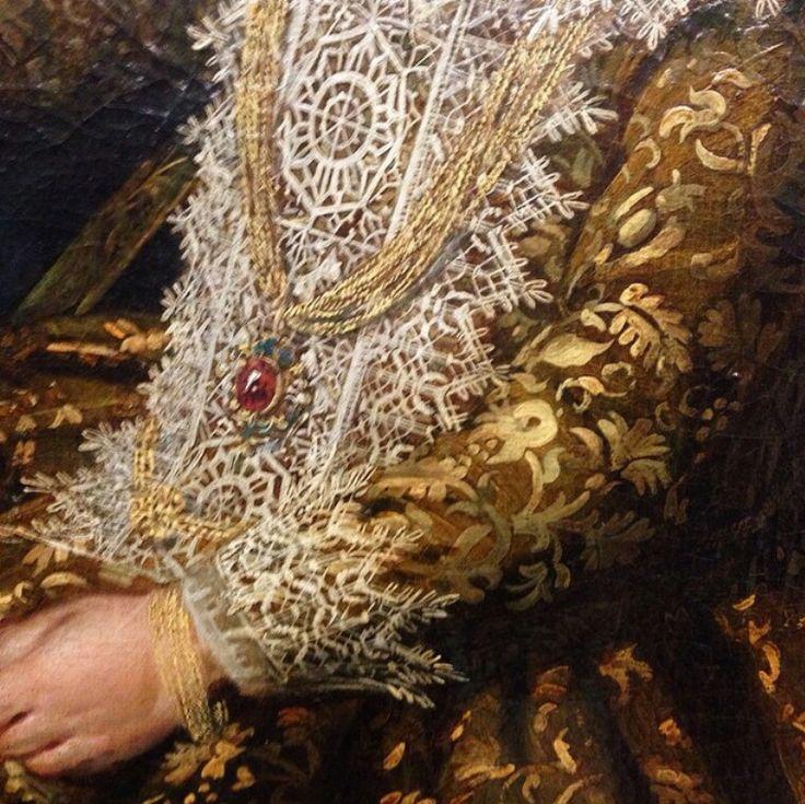 Frans Hals, detail of a portrait of Catharina Hooft ca. 1619