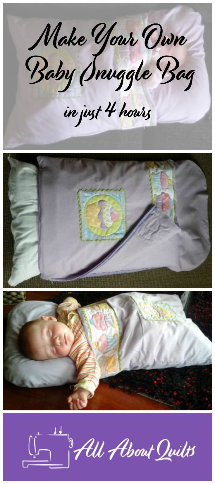 Make your own Baby Snuggle Bag for someone special, tutorial included.