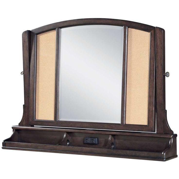 Jacku0027s Treasures Mirror Collection: Paula Deen Kids GuysItem X X Beveled  Mirror, Tilts To Various Viewing Positions* Electrical Outlet In Base* Cork  Side ...