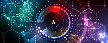 Artificial intelligence. Technology web background. Virtual conc – Stock , #AFFILIATE, #Technology, #web, #Artificial, #intell