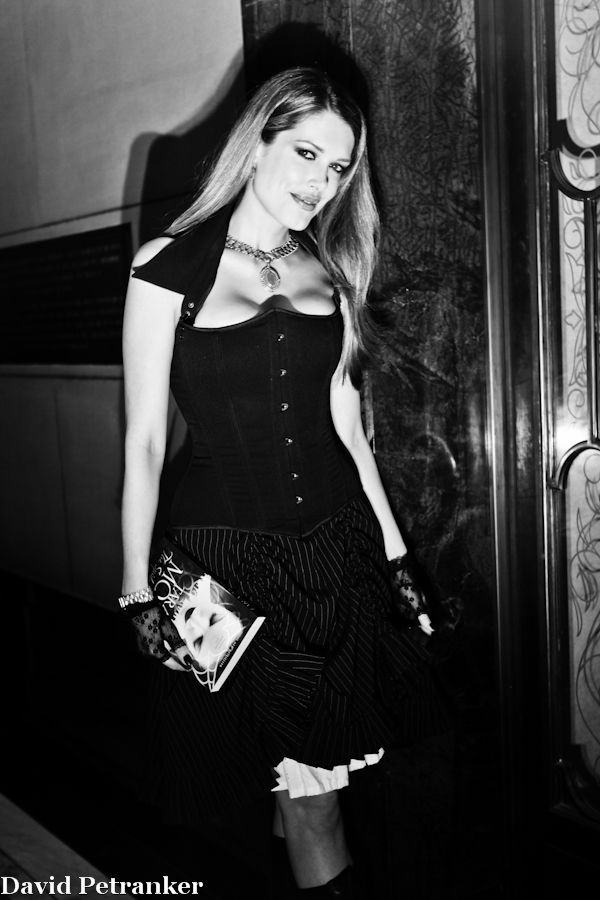 Author Tara Moss in gothic mode at the launch of her novel The Spider Goddess. Photo by David Petranker.