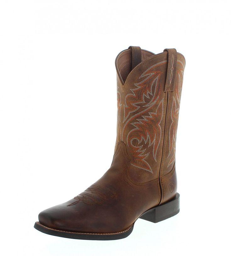 Men's Ariat Sport Horseman Cowboy Boot, Size: 10 D, Rafter Tan Full Grain Leather