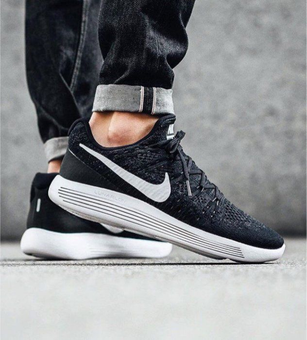 Nike Lunarepic Low Flyknit 2 Black White 863779 001 Men S Running Shoes New Black White Flyknit Running Shoes For Men Steel Toe Boots Nike