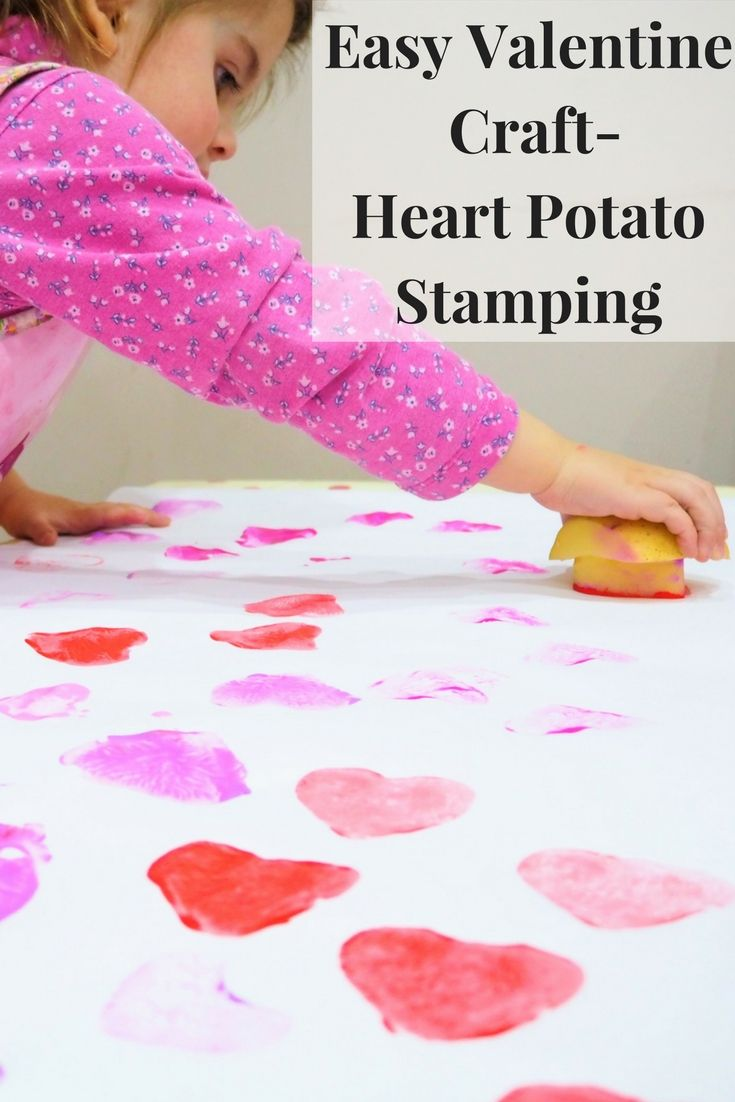 Nice Valentines Craft Ideas Kids Part - 14: Heart Potato Stamping. Easy Kids CraftsSimple CraftsPreschool CraftsCraft  ActivitiesValentine ...