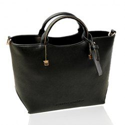 $18.78 Pretty Women's Tote Bag With Solid Color and Rivets Design