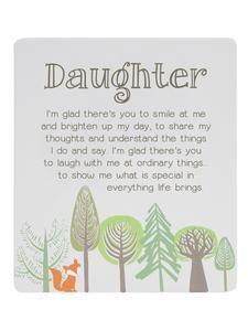 Oderings Garden Centre | Homeware - Splosh Woodlands Scene Poem Daughter