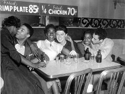 Integrated Couples in Bar, 1959 #bwwm #wmbw