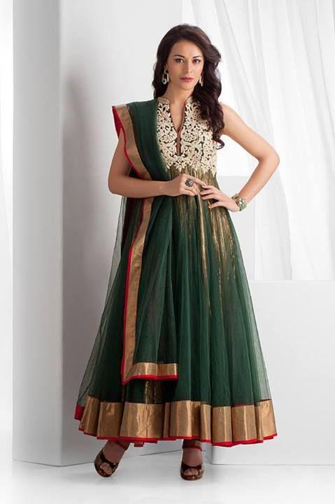 Green Anarkali #salwaar kameez #chudidar #chudidar kameez #anarkali #anarkali suits #dress #indian #outfit  #shaadi #bridal #fashion #style #desi #designer #wedding #gorgeous #beautiful