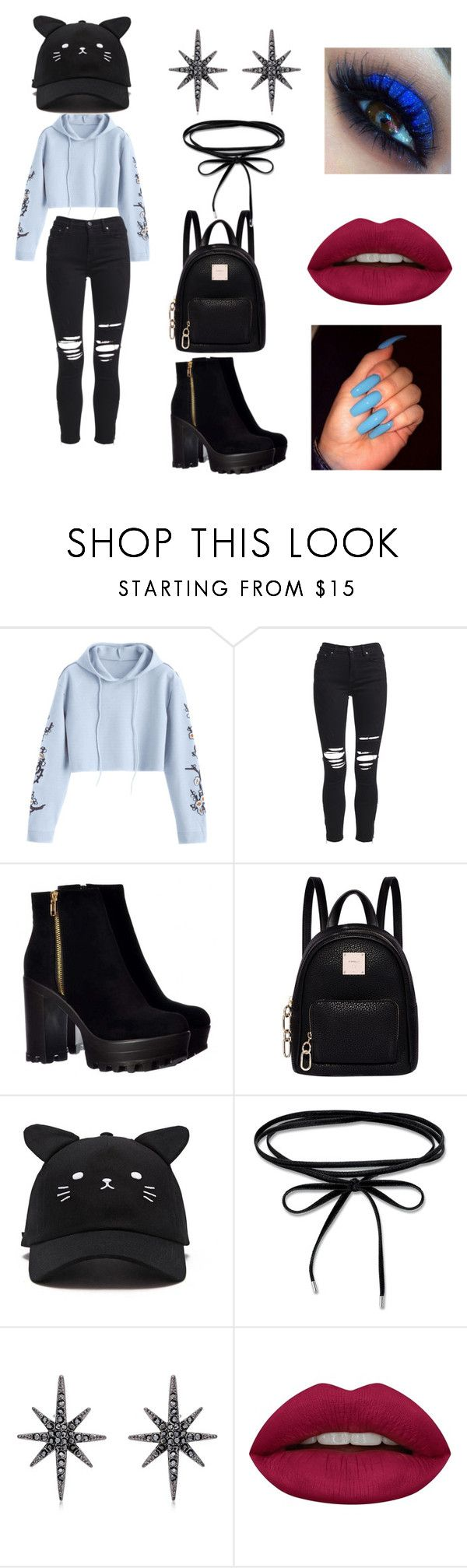 """""""."""" by blackdack ❤ liked on Polyvore featuring AMIRI, Fiorelli, Forever 21, Federica Tosi and Huda Beauty"""