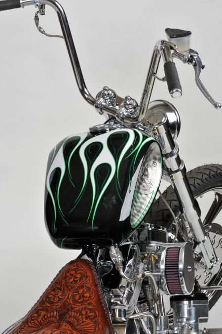 Sweet Marissa. Indian Larry Motorcycle.