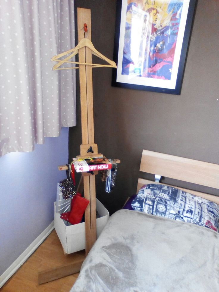 Clothes valet stand, bedside table