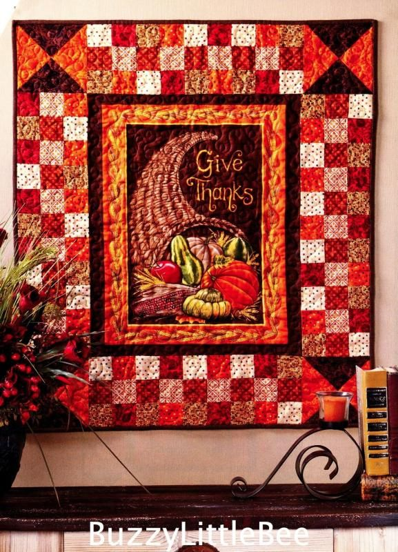Thanksgiving Quilt Patterns Quilt Pattern Give Thanks