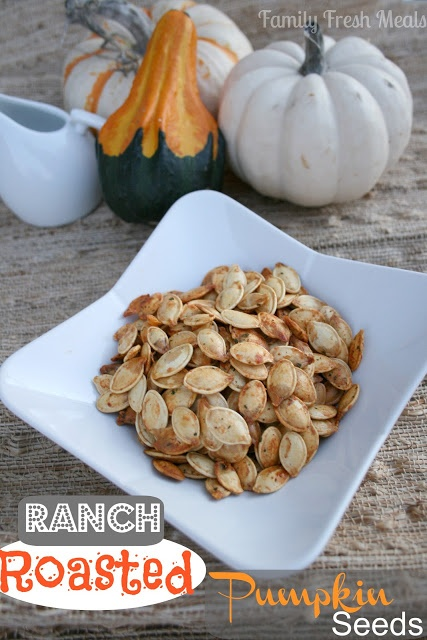 Ranch Roasted Pumpkin Seeds  Try something different this FALL!