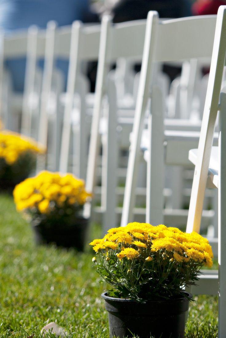 Simple Outdoor Wedding Ideas Simple Aisle Decorations