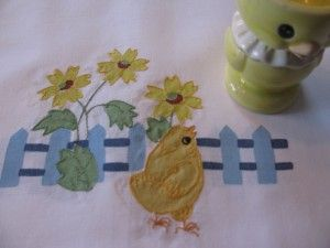 PICKET FENCE CONTOUR EMBROIDERY PLACE SETTING FOR #EASTER DINING ~ WELCOME #SPRING https://thelaceandlinensco.com/store/products/picket-fence-contour-embroidery-place-setting-for-easter-dining  #Linens #lace
