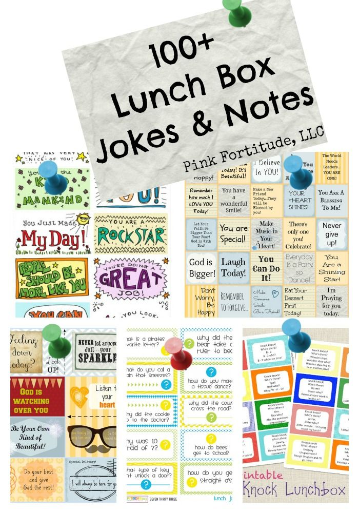 Lunch Box Jokes and Notes by coconutheadsurvivalguide.com #backtoschool