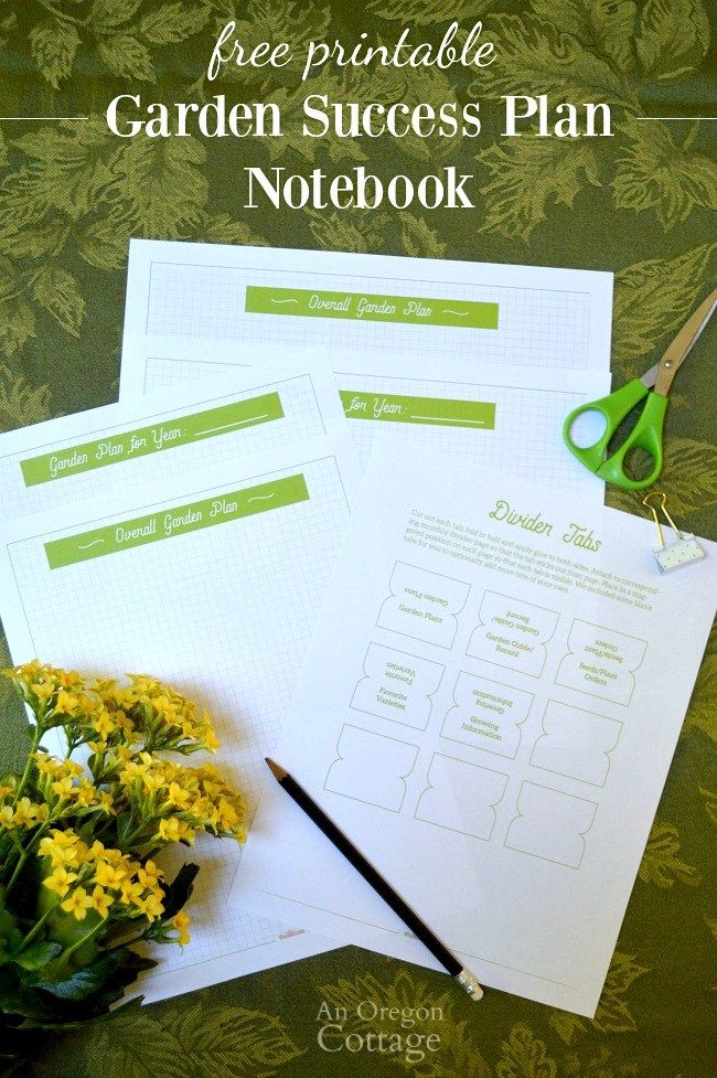 Free Printable Organizing Garden Papers with a garden success plan notebook. #gardening #notebook #freeprintable #organizing