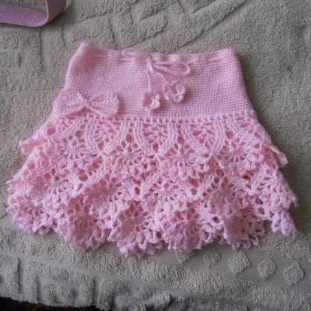 beautiful crochet skirt - free diagram