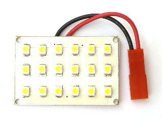 白色LEDルームランプ3x6(26mmx40mm)(18LED)