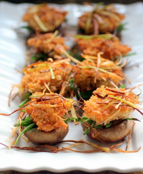 """Stuffed Mushrooms """"Green Bean Casserole Style"""" • Taste With The Eyes • where the image is meant to titillate and inspire the cook"""