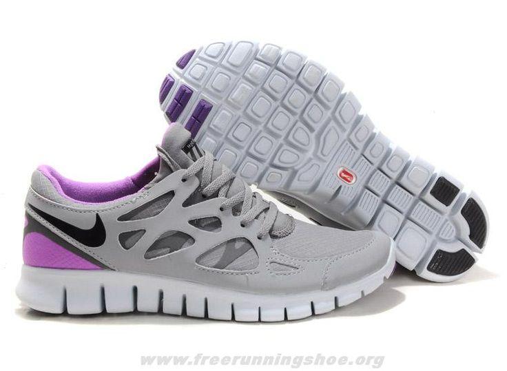 Cool Grey Varsity Purple Nike Free Run 2 Shield Men Running Shoes
