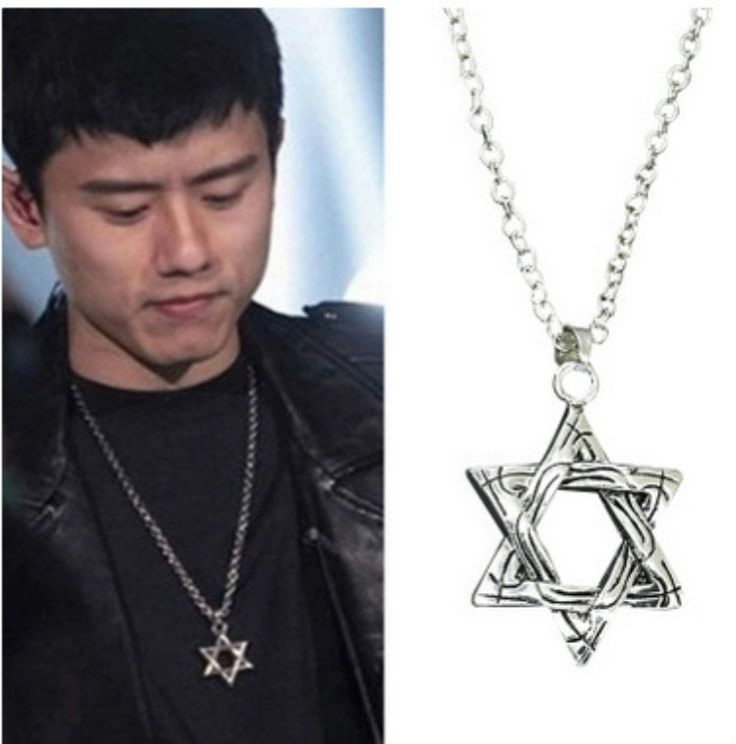 N390 New Vintage Hexagram Pendants Necklaces Magen David Pendant Chain Jewelry Men Women Tantrism,Jewish Star,Solomon seal,Israe