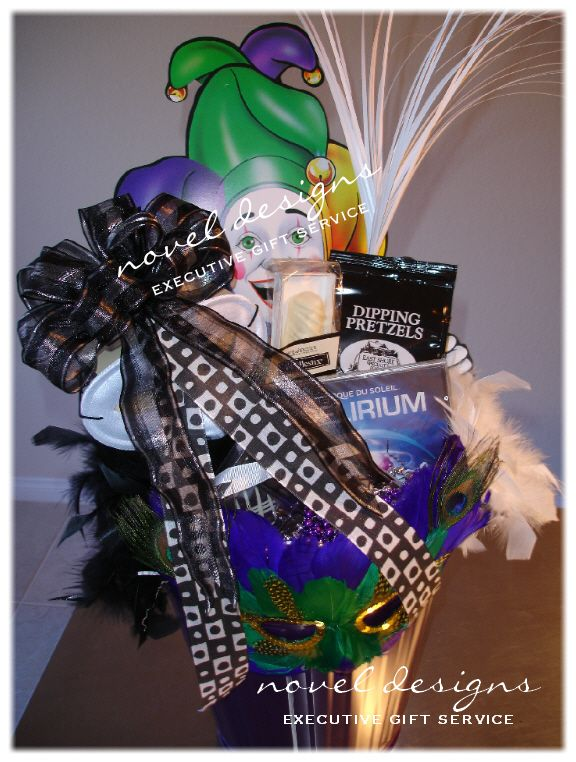 30 best gift baskets giveaway ideas images on pinterest basket mardi gras gift basket novel designs executive gift service of las vegas specializing in creating negle Choice Image