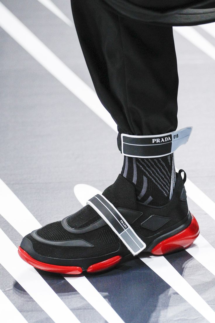 Prada Spring 2018 Menswear Fashion Show. Prada ShoesRed SneakersMen ...