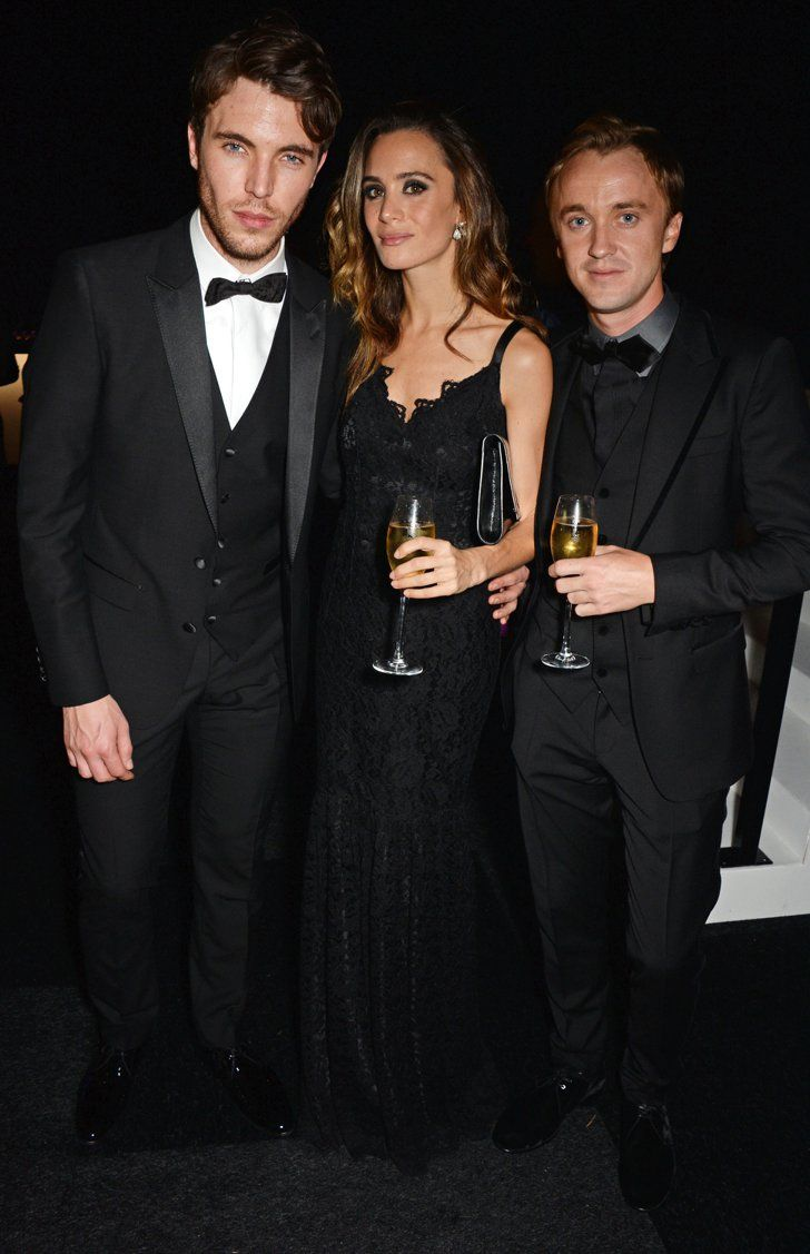 Pin for Later: That's a Wrap! See All the Stars Who Ditched Hollywood For the London Film Festival Tom Hughes, Jade Olivia, and Tom Felton Jade Olivia got sandwiched at the IWC Gala Dinner.