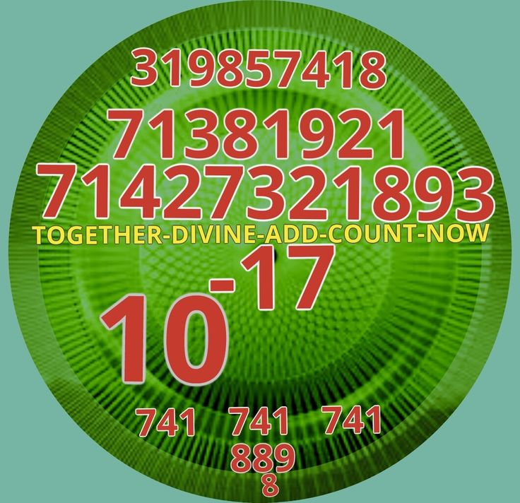 To Activate the FINANCIAL FEATURES AND HOW TO OBTAIN Sit comfortably say all the numeric strings 3times:71381921 71427321893 (TOGETHER -DIVINE -ADD -COUNT -NOW) 10 to the minus -17 319857428 741 741 741 889 8 *71381921 (It is the implementation of high speed events) *Finance 71427321893 *Every negative thought momentarily transformed into a positive - say 10 to the minus 17 *319857418 - for super fast management information *741 741 741 - eternal happiness, prosperity and currently…