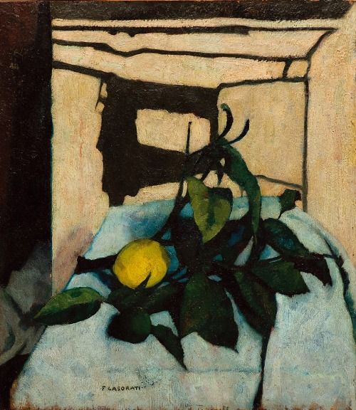 Felice Casorati (Italian, 1883-1963) - Still Life with Lemon, 1937