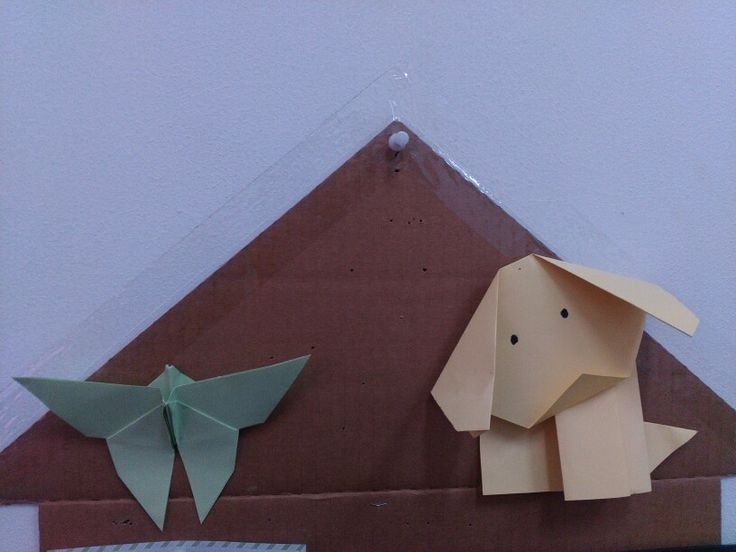Origami decor 4 sist,puppy and butterfly.