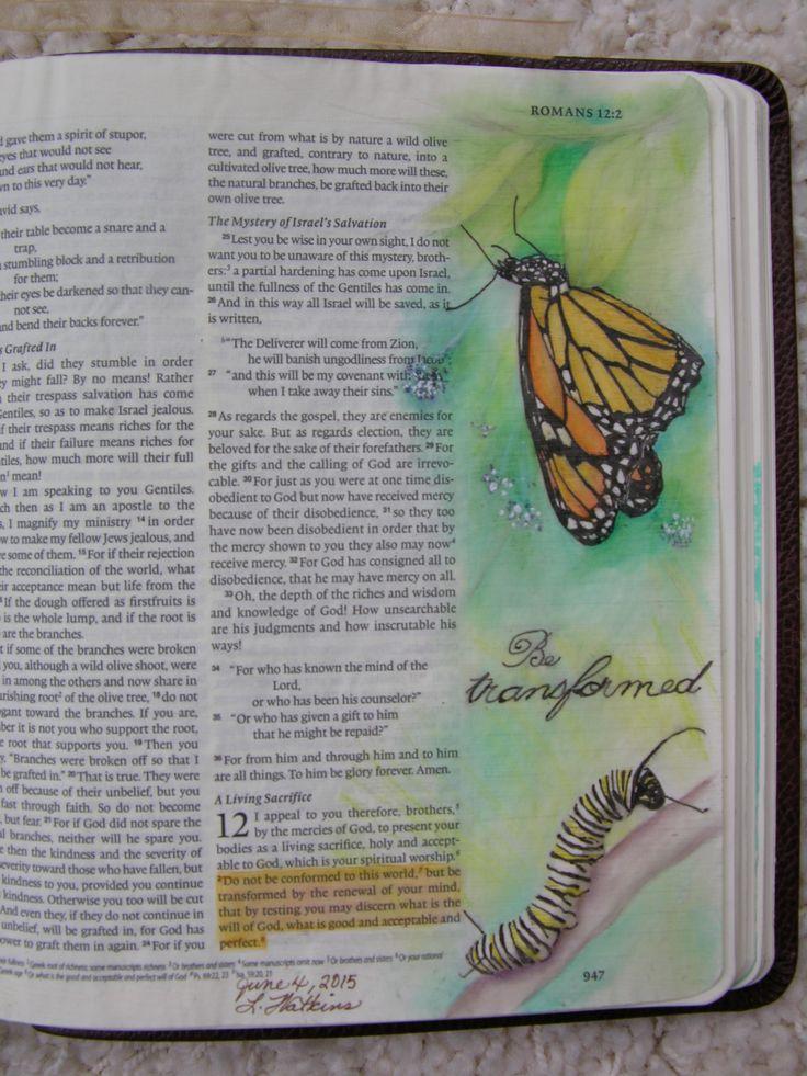 by Linda Watkins - Bible Art Journaling Challenge Week 13 - Romans 12:2
