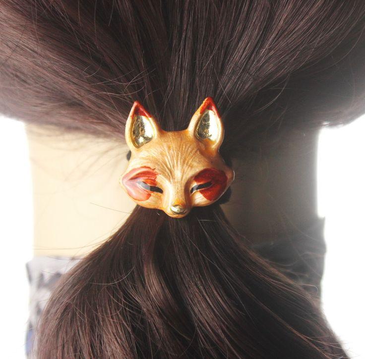 Phụ nữ tóc phụ kiện Kim Loại lông Động Vật clip Headband Nữ Ponytail Gum cho Tóc Mũ Nón Tóc Đàn Hồi Ban Nhạc cặp tóc