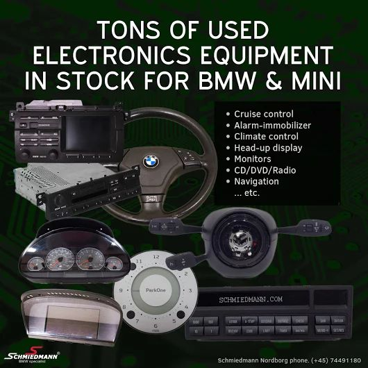 """Find loads of used parts at Schmiedmann Nordborg A/S Specialist i BMW or schmiedmann.com """"Show used parts""""."""