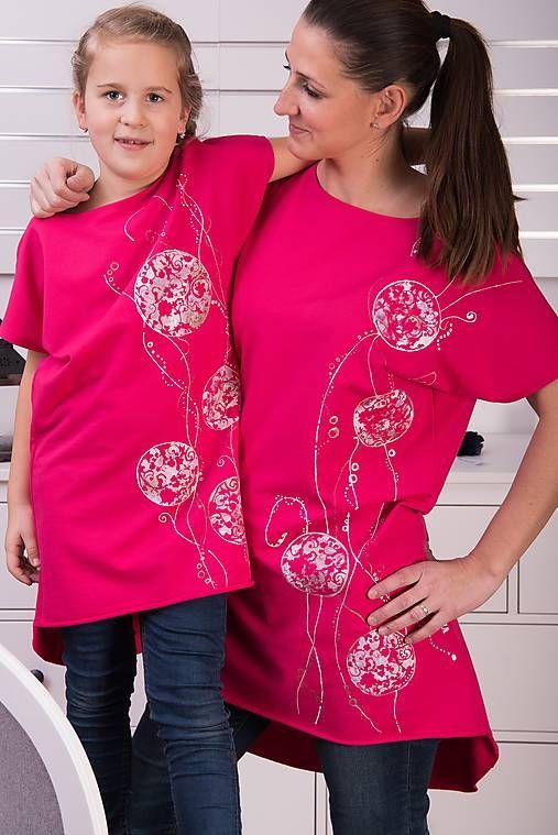 Cyklámenová tunika kruhy #detskamoda#jedinecnesaty#handmade#originalne#slovakia#slovenskydizajn#móda#šaty#original#fashion#dress#modre#ornamental#stripe#dresses#vyrobenenaslovensku#children#fashion#rucnemalovane