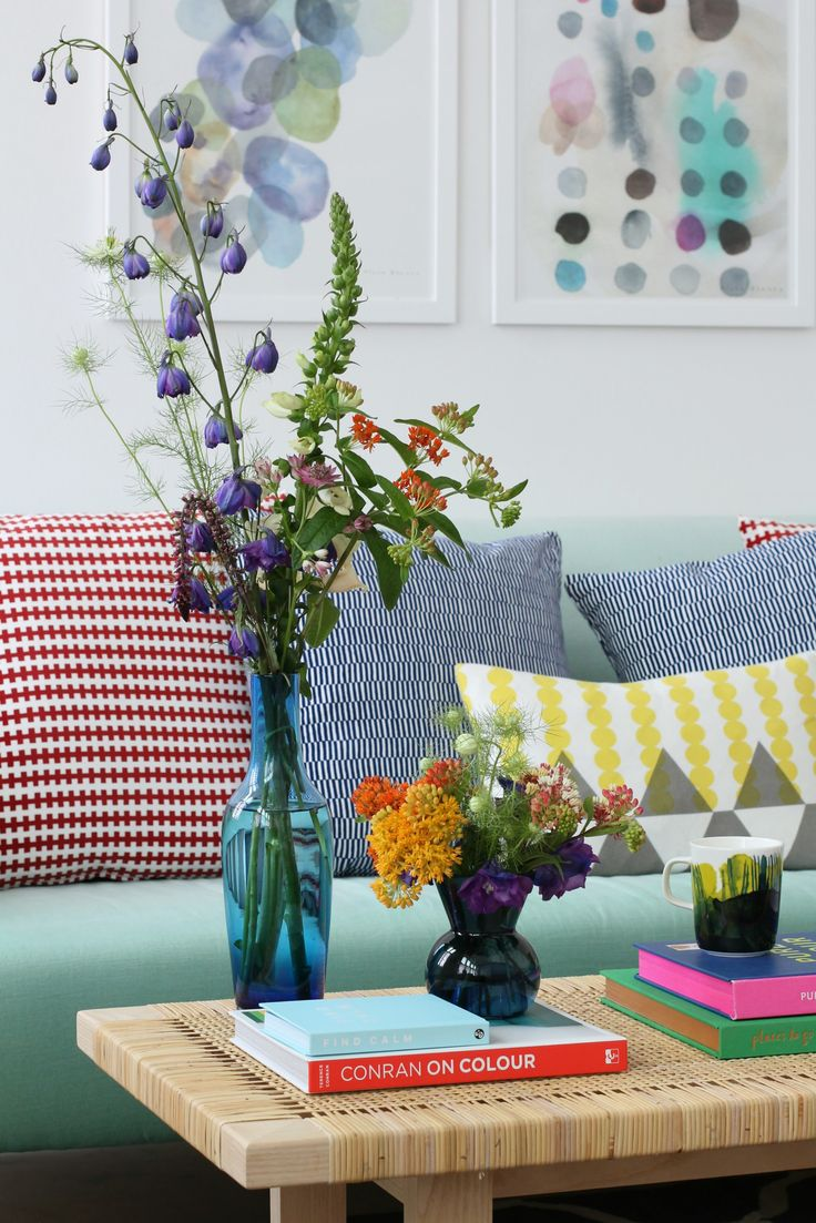 Coffee table styling for summer