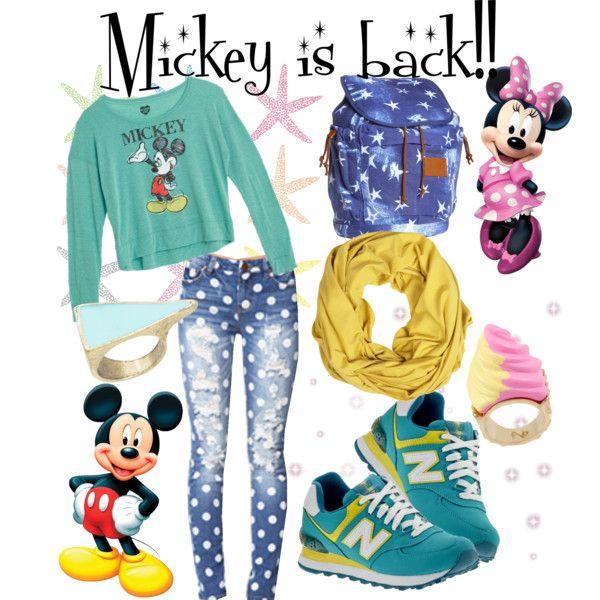 """Mickey is back"" by ekamulya on Polyvore"