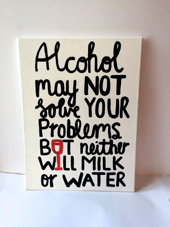 Alcohol Quote Canvas