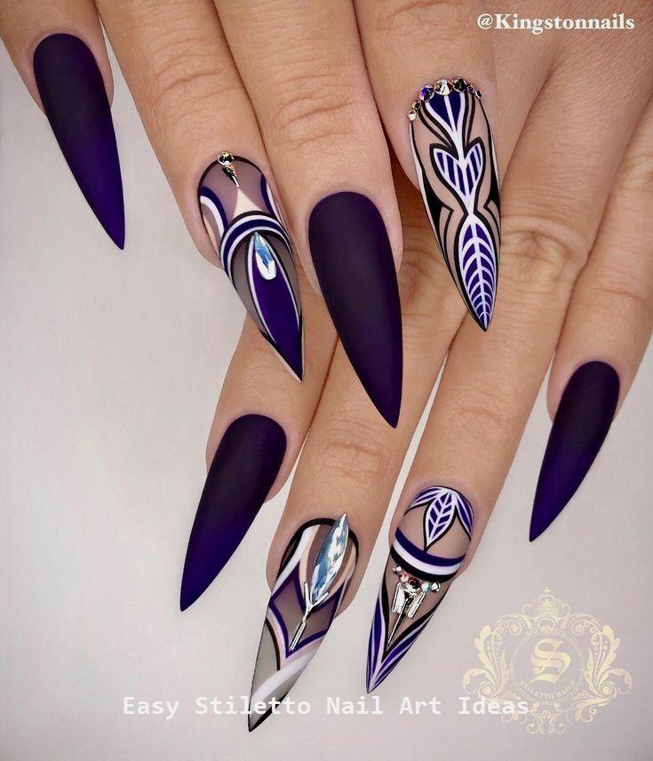 30 Great Stiletto Nail Art Design Ideas #naildesig…
