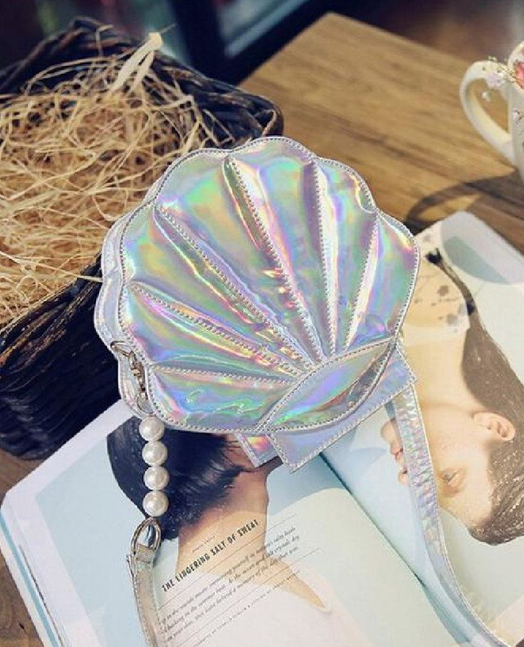 Sea Shell Shaped PU Leather Handbag