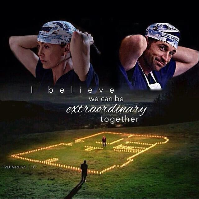 I believe we can be extraordinary together - season 4 finale ❤️ ferry boat scrub cap greys anatomy