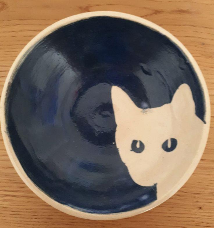 Schaaltje met kat - by Tilia