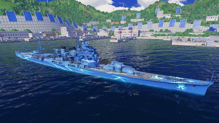 World of warships  cruzador pesado takao Porto de Yokosuka