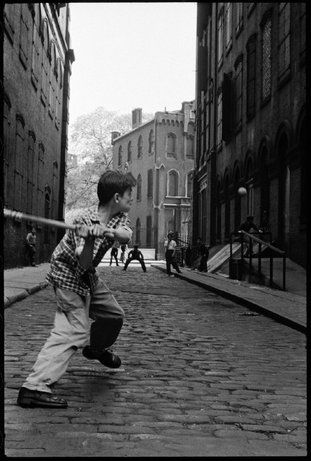 U.S. Stickball in Little Italy, NYC, 1956 // Leonard Freed