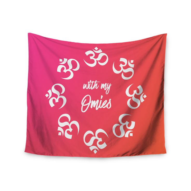 """KESS Original """"With My Omies Pink"""" Coral Magenta Wall Tapestry"""